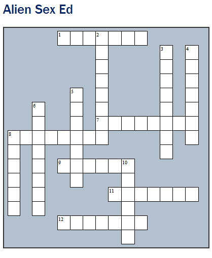 Alien Sex Ed crossword