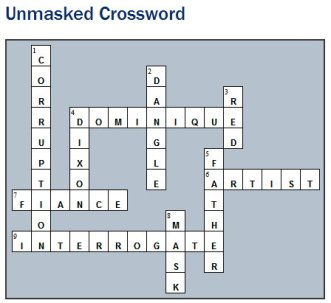 Unmasked crossword answers